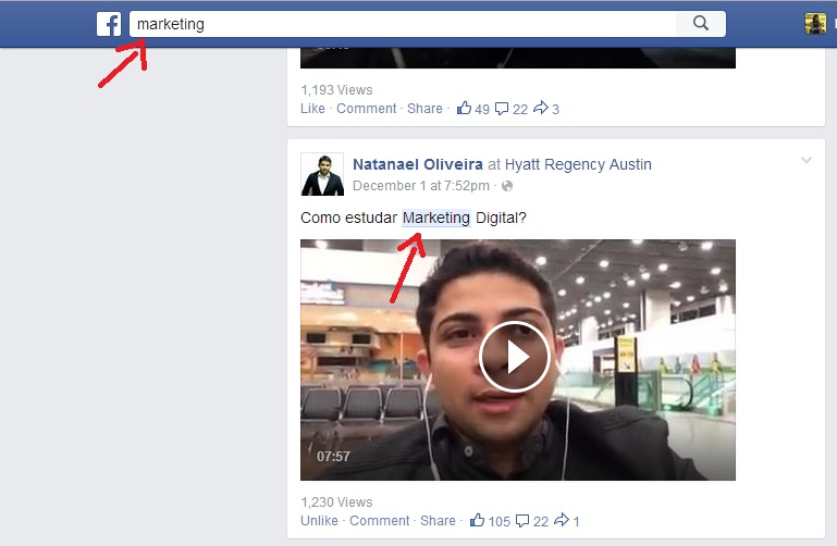 Facebook Graph Search Busca Posts