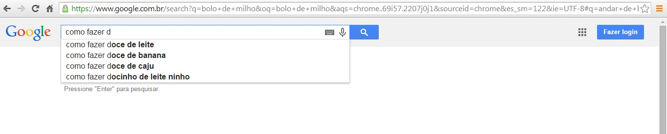 Google Suggest SEO palavra-chave