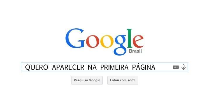 primeira página google posicionamento conteúdo