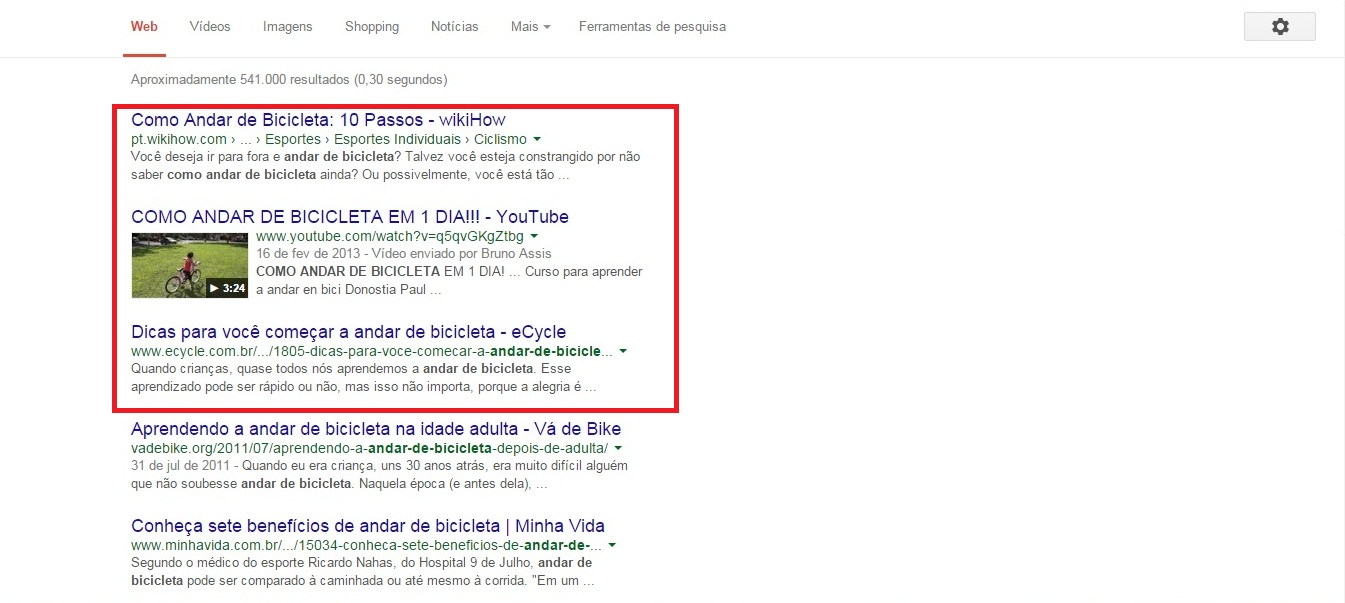 Pesquisar palavra chave SEO Google