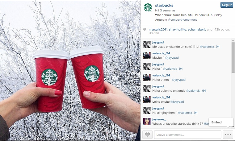 tarbucks instagram rede social negócios