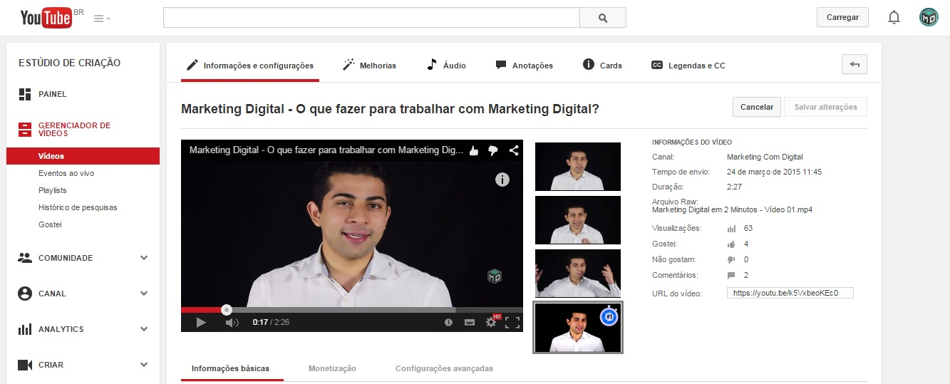 youtube card negócios marketing
