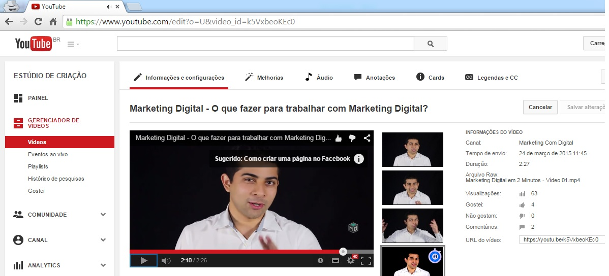 youtube card marketing digital