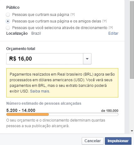 segmentação impulsionar post facebook