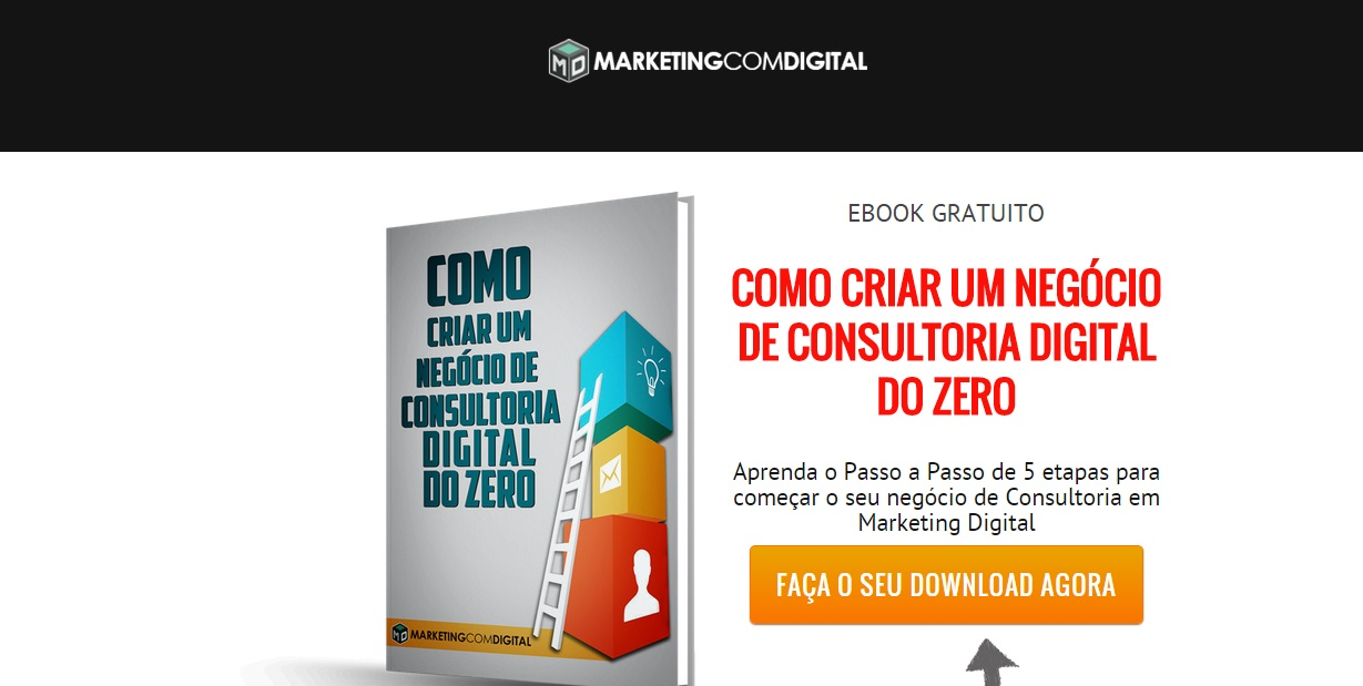 Página de captura do Imã Digital - Ebook Consultoria