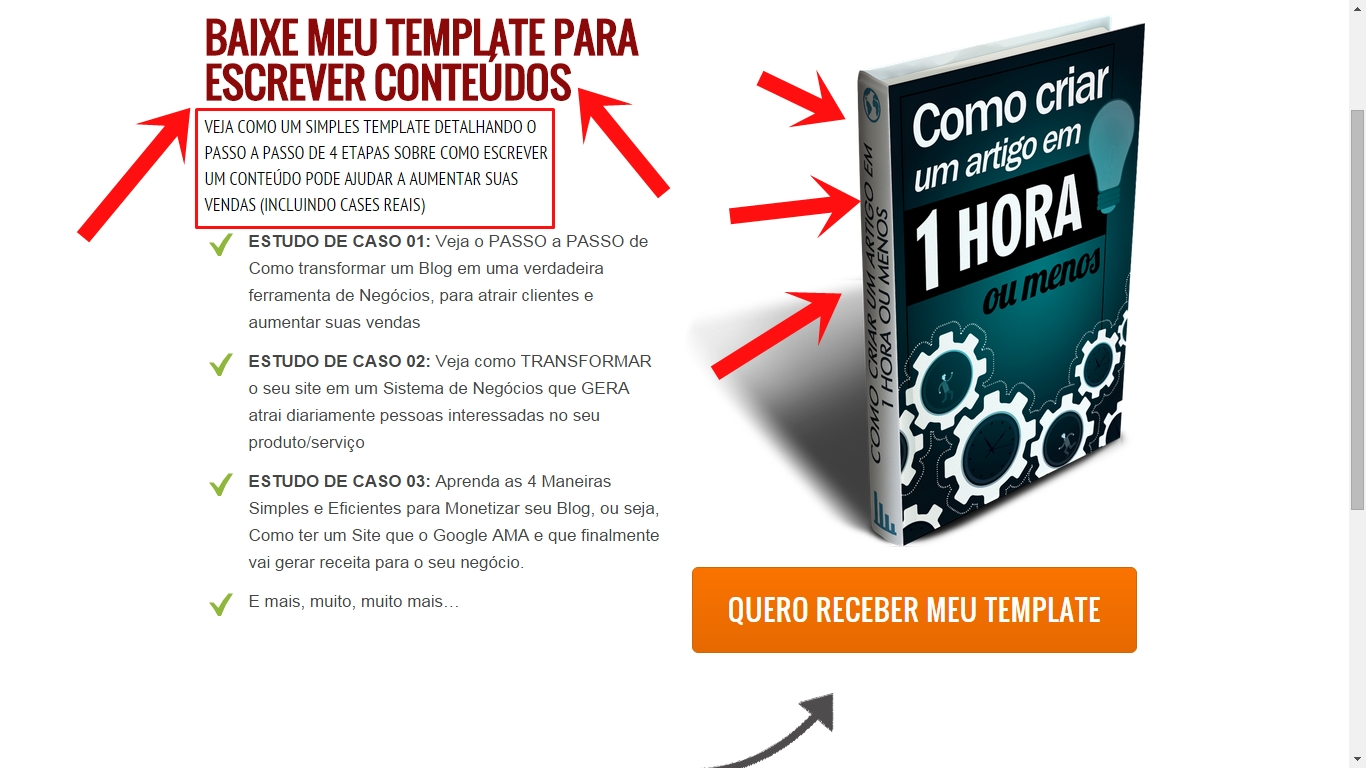 Landing page pagina captura marketing