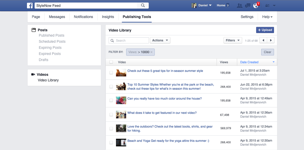 facebook biblioteca videos novidade
