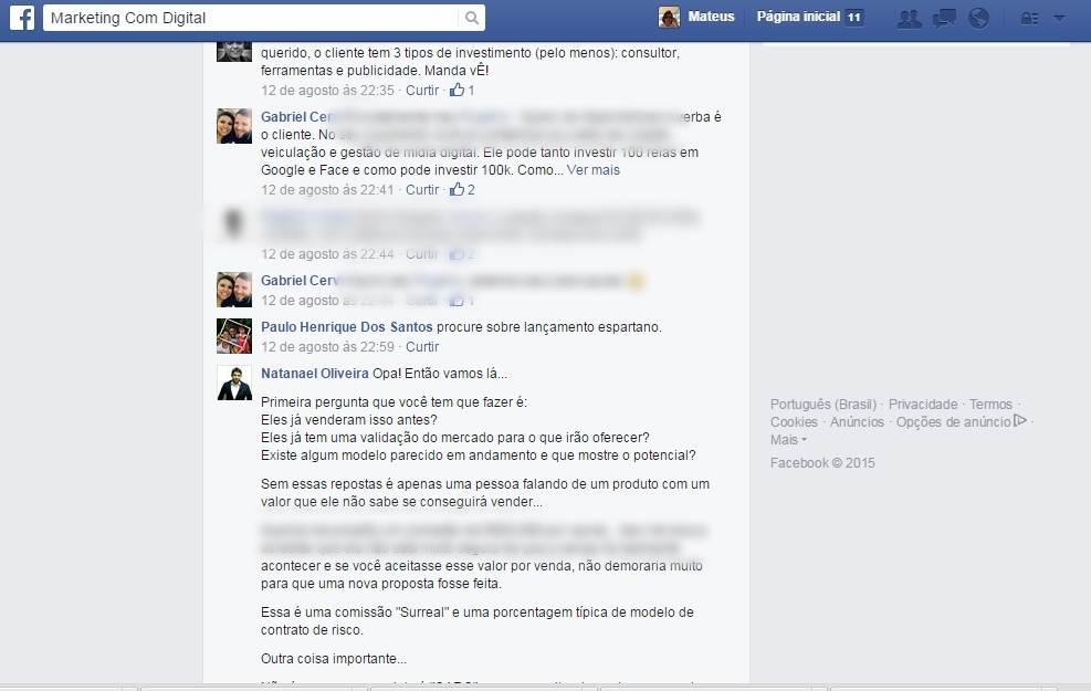 facebook comunidade marketing com digital