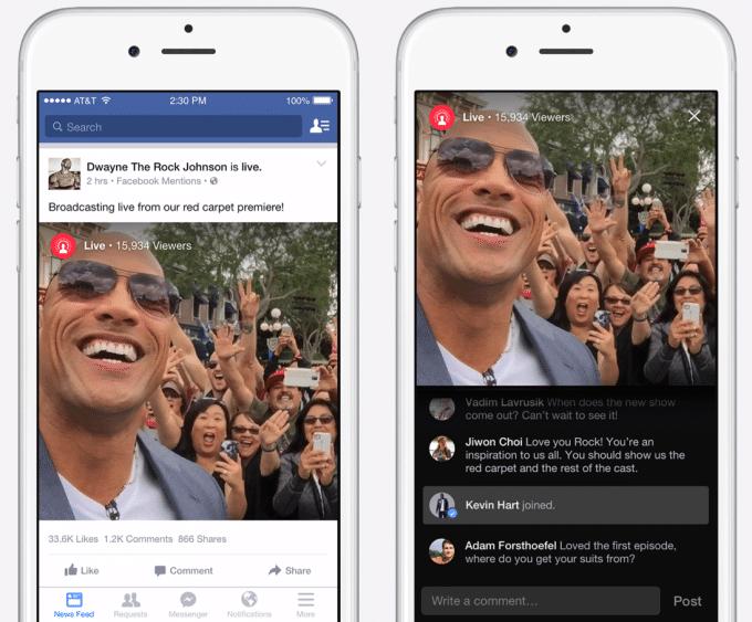 facebook transmissao ao vivo live stream