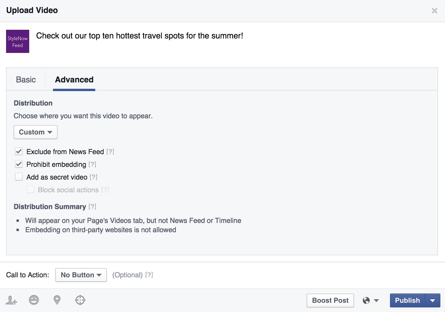 facebook videos upload novidades