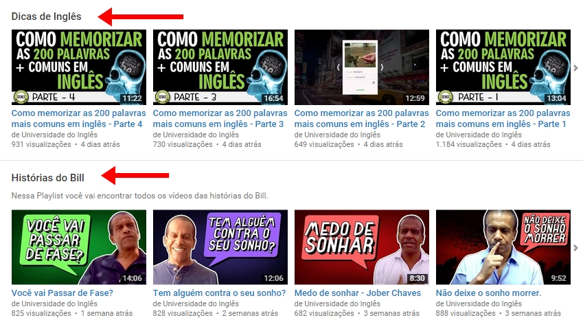 menus canal youtube