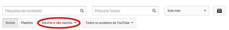 inscrito e nao inscrito youtube analytics