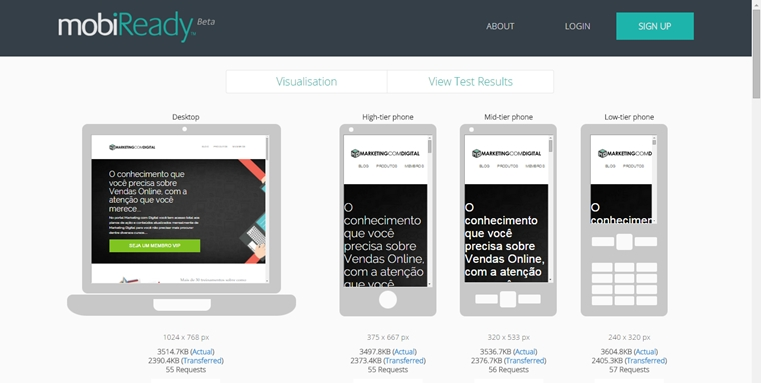 mobiready site mobile friendly